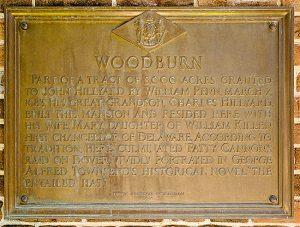 Image of the Woodburn Underground Railroad plaque