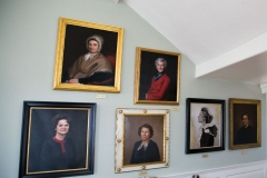 Image of the wall of first ladies in the Great Hall